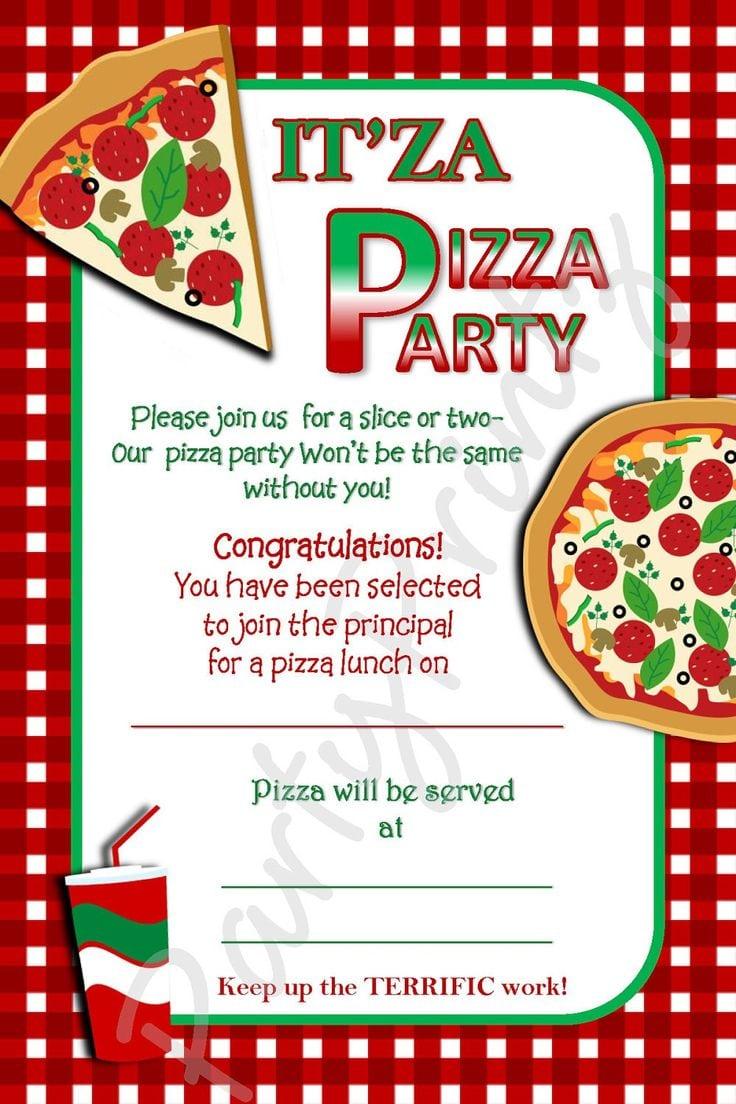 Free Pizza Party Invitation Template