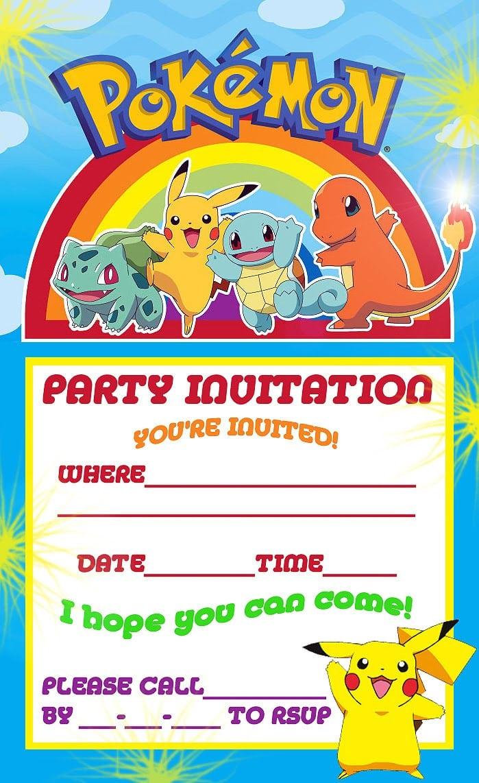 Free Pokemon Invitation Birthday Party