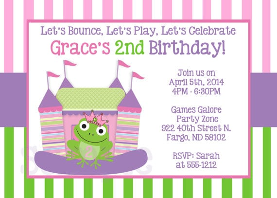 Free Princess In The Frog Birthday Invitation Edit