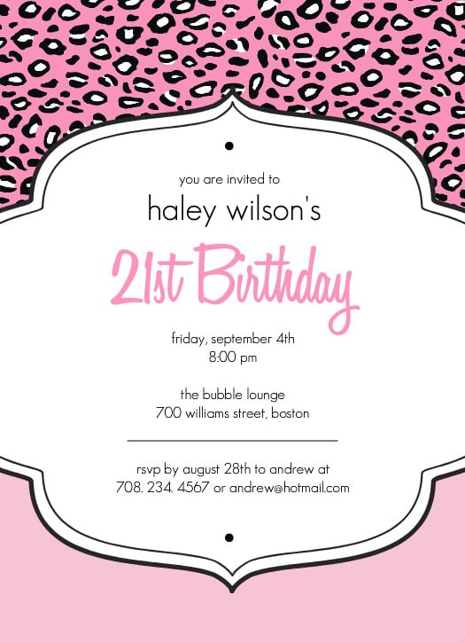Free Printable 21st Birthday Invitations Designs