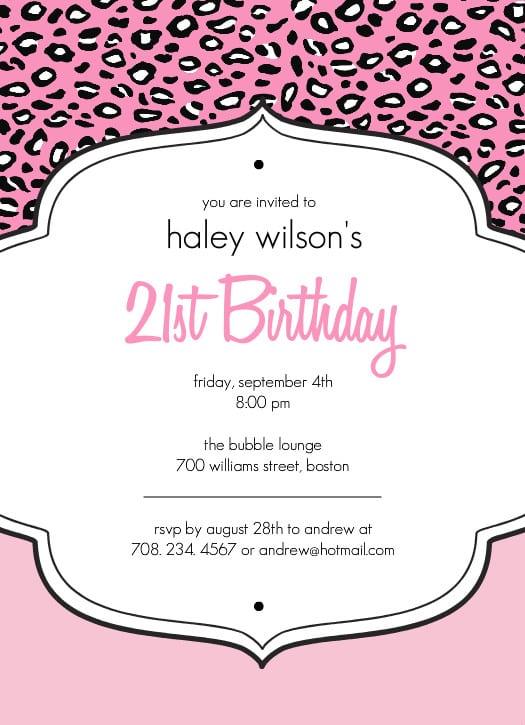 Free Printable 21st Birthday Invitation – Free 21st Birthday Invitation Templates