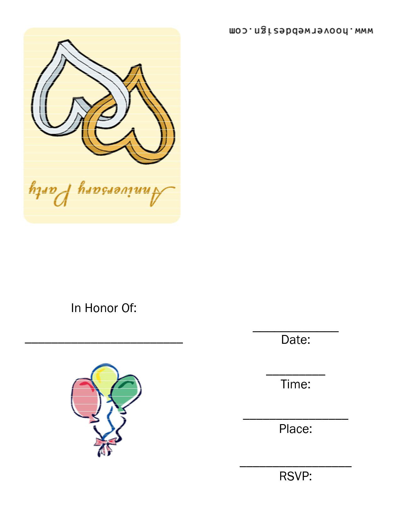 Free Printable 25th Wedding Anniversary Invitations