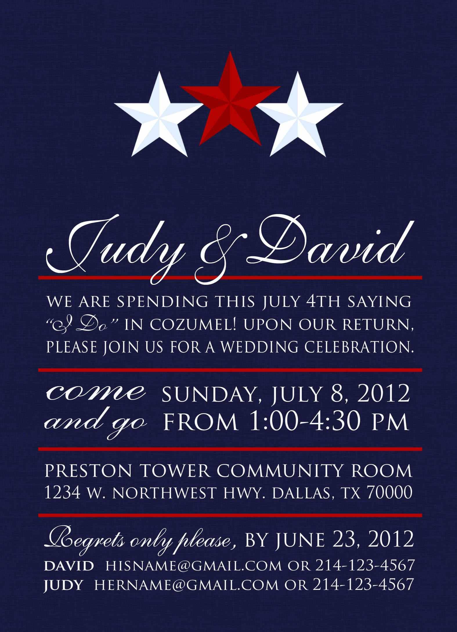Free Printable 4th Of July Birthday Party Invitation