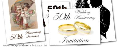 Free Printable 50th Anniversary Invitation Templates