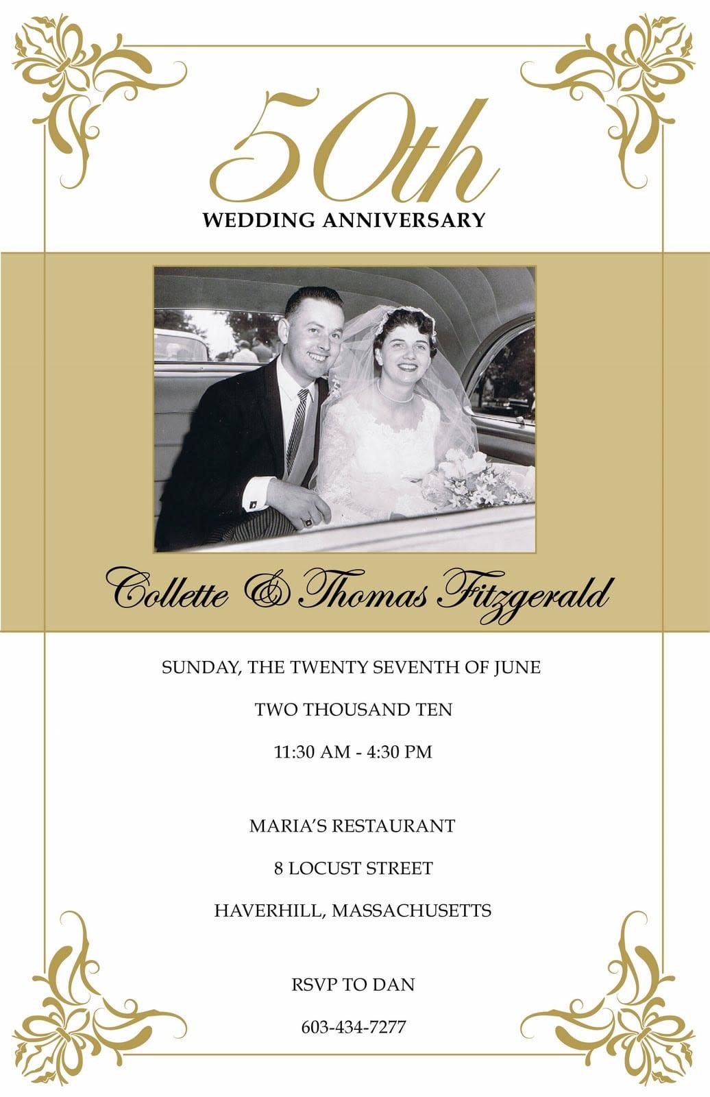 Free Printable Anniversary Invitations Templates