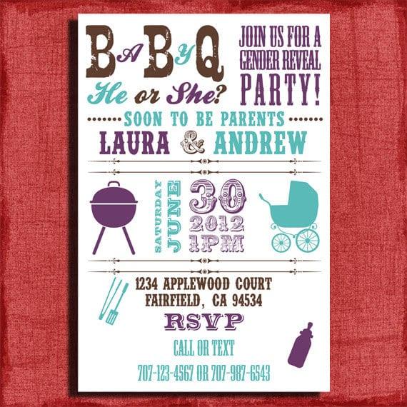 Free Printable Baby Q Invitations