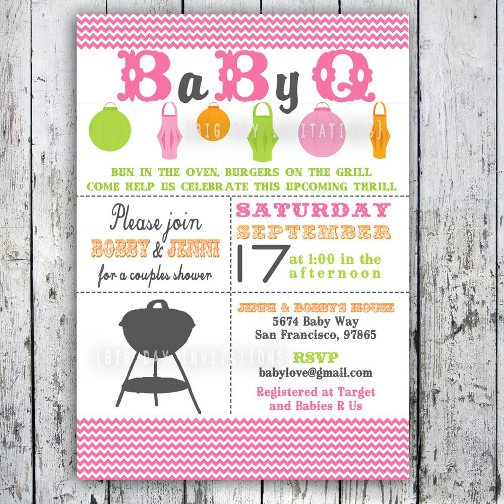 Free Printable Baby Q Shower Invitations