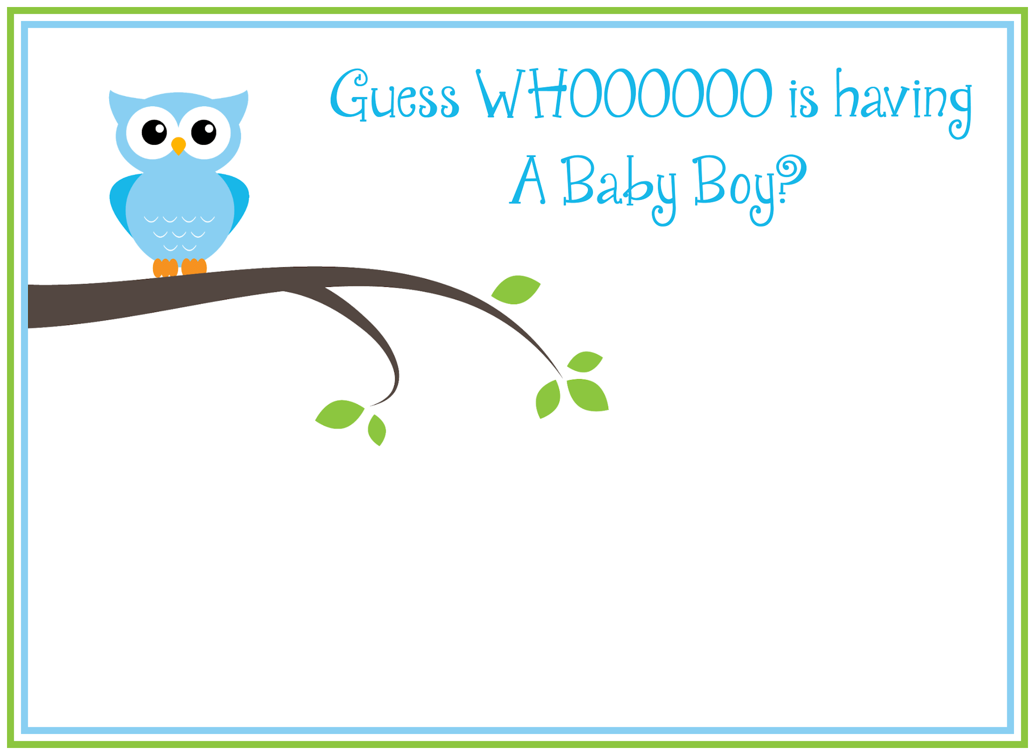 Free Printable Baby Shower Invitations For Boy And Girl