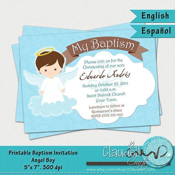 Free Printable Baptism Invitation Card