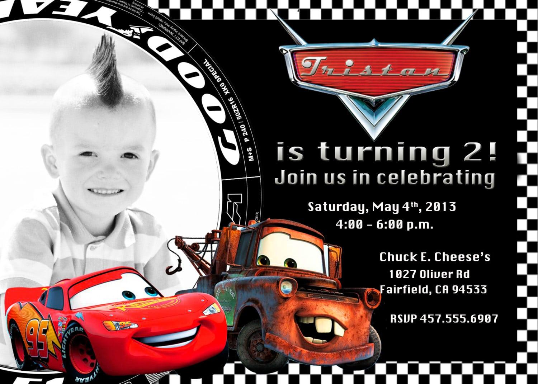 Free Printable Cars 2 Birthday Invitation