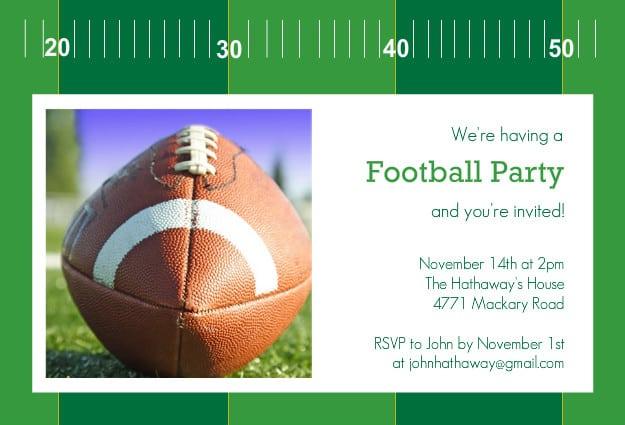 Free Printable Detroit Lions Football Birthday Invitation