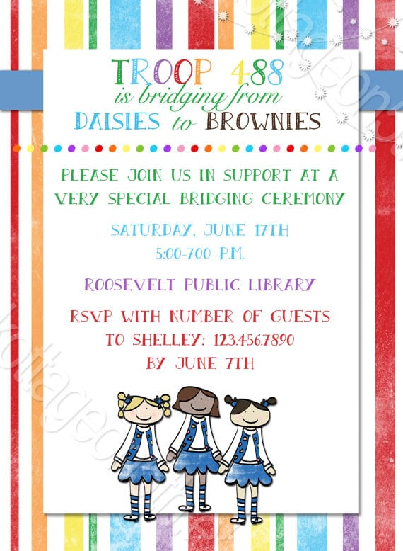 Free Printable Girl Scout Invitations