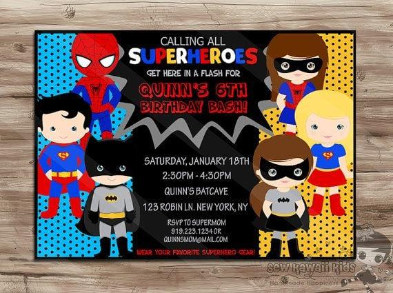 Free Printable Girl Superhero Invitations
