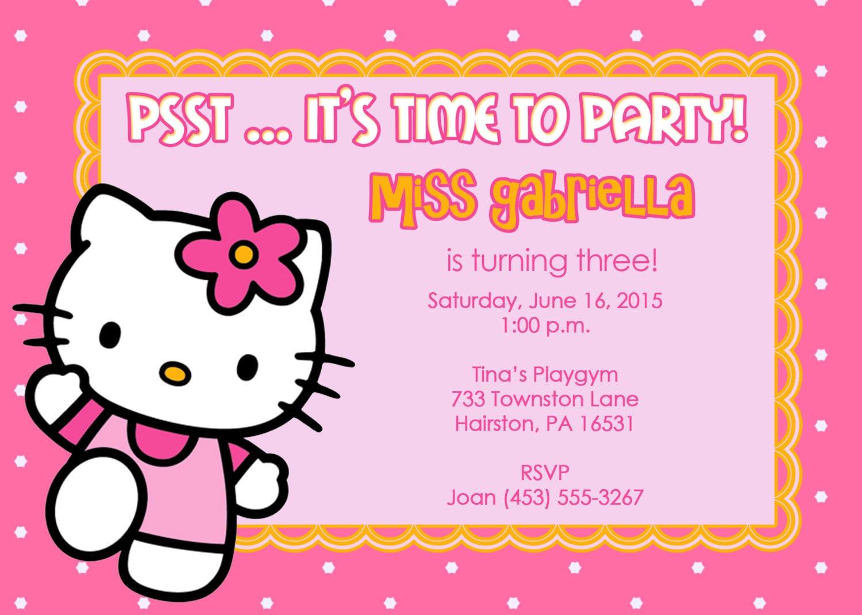 Free Printable Hello Kitty Invitations