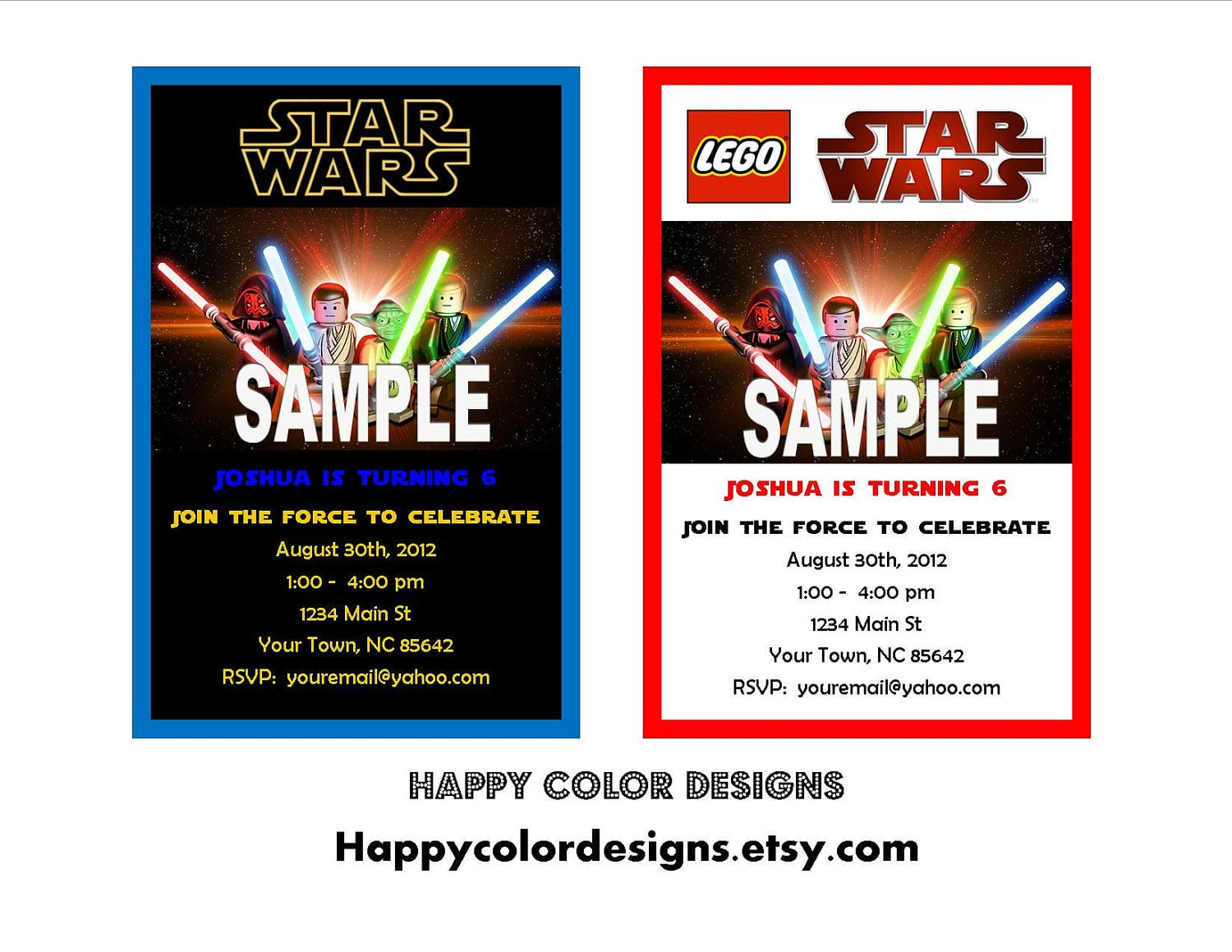 Free Printable Lego Star Wars Party Invitations