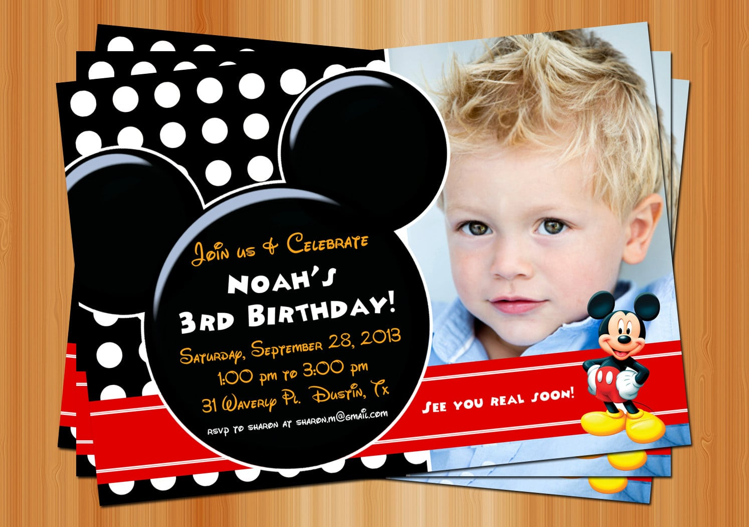 Free Printable Mickey Mouse Clubhouse Invitation
