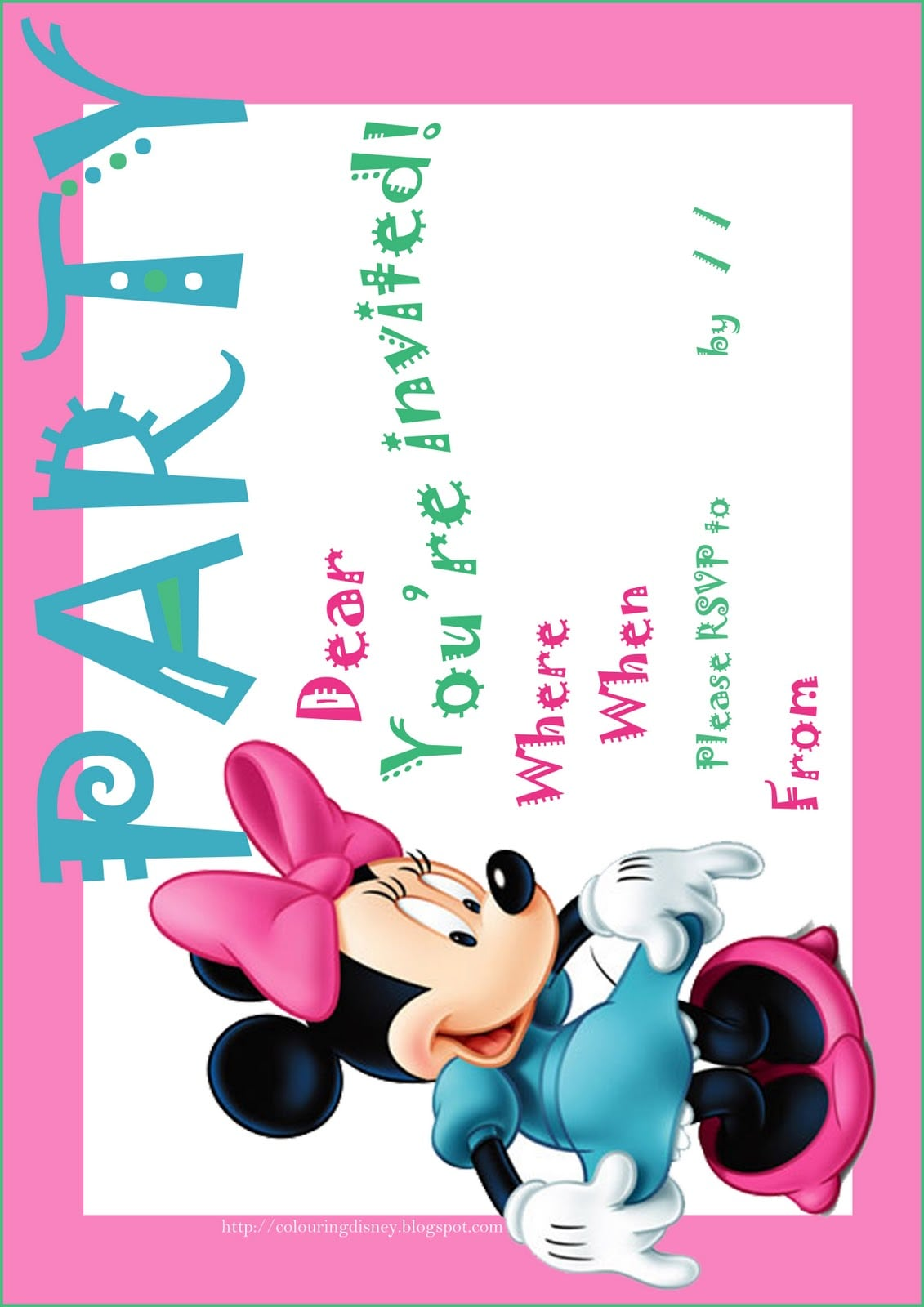Free Printable Minnie Invitations