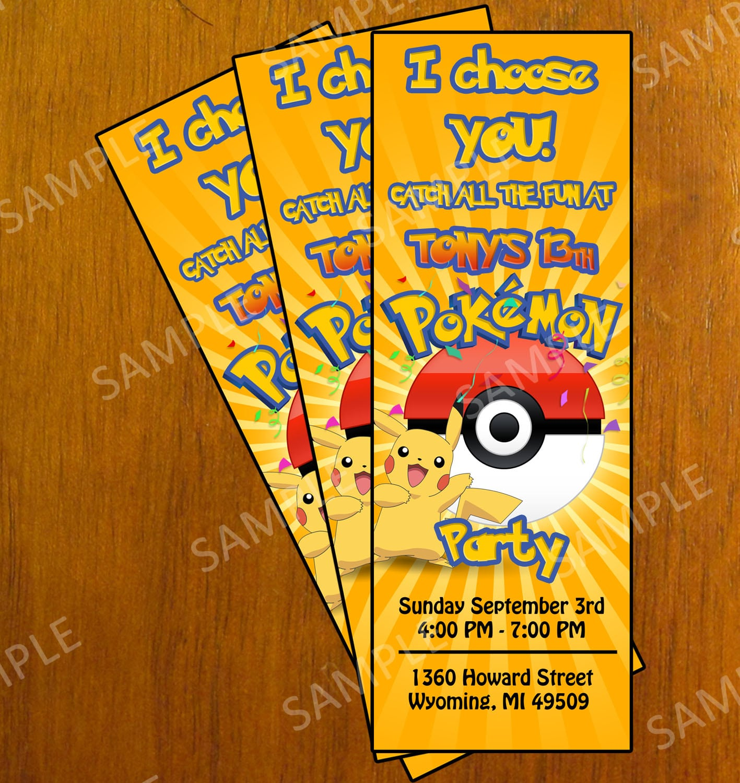 Free Printable Pokemon Invitation Cards