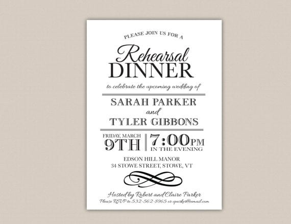 Marvelous Dinner Invitation Template  Dinner Invitation Template