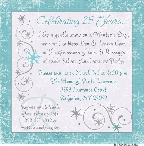 free printable 25th wedding anniversary invitation With free printable silver wedding anniversary invitations
