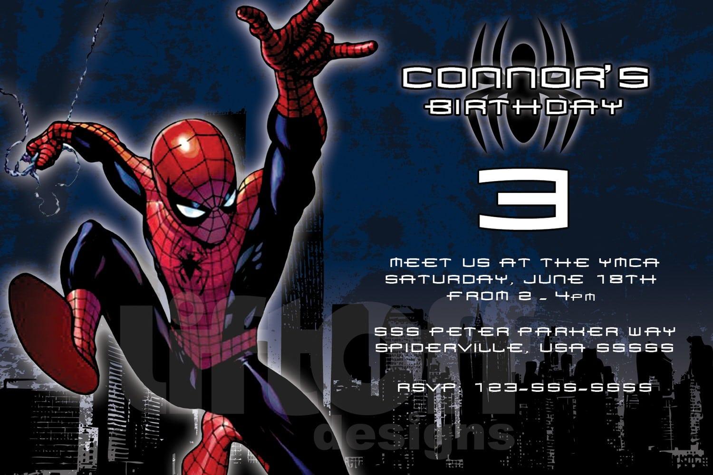 Free Printable Spiderman Birthday Invitation For Boys