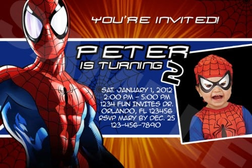 Free spiderman printable birthday invitation filmwisefo