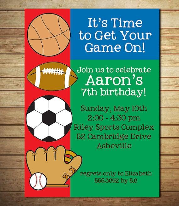 Free Printable Sports Birthday Invitation Templates