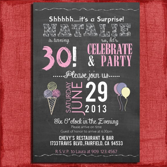 Free Printable Surprise 30th Birthday Invitation – Surprise 30th Birthday Invites