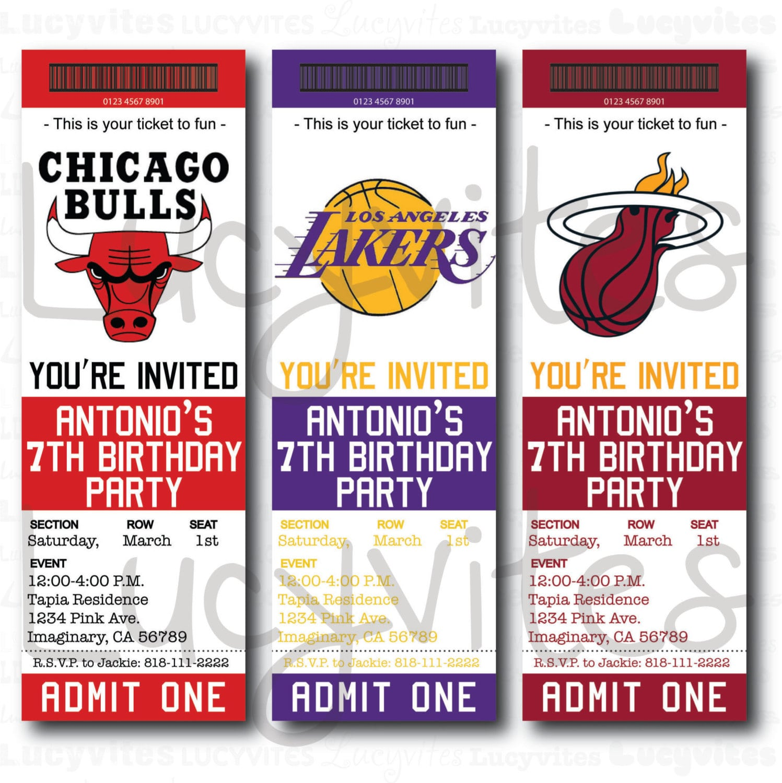 Free Printable Ticket Stub Invitation