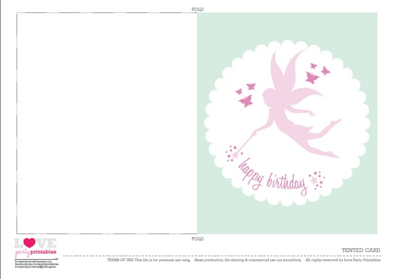 Free Printable Tinkerbell Birthday Invitation Cards