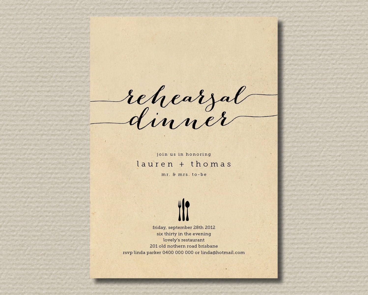 Free Printable Wedding Rehearsal Dinner Invitations