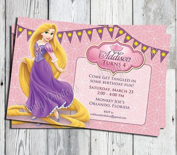 Free Rapunzel Tangled Invitations