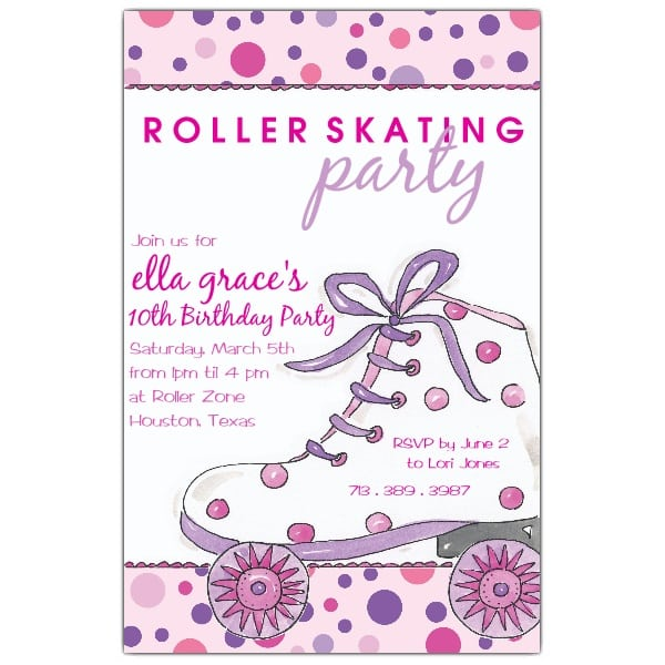 Free Roller Skating Party Invitations