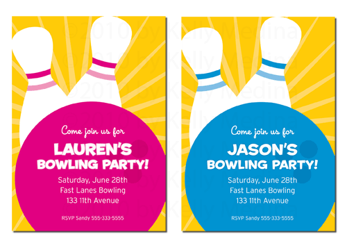 Free Samples Of Bowling Birthday Invitation