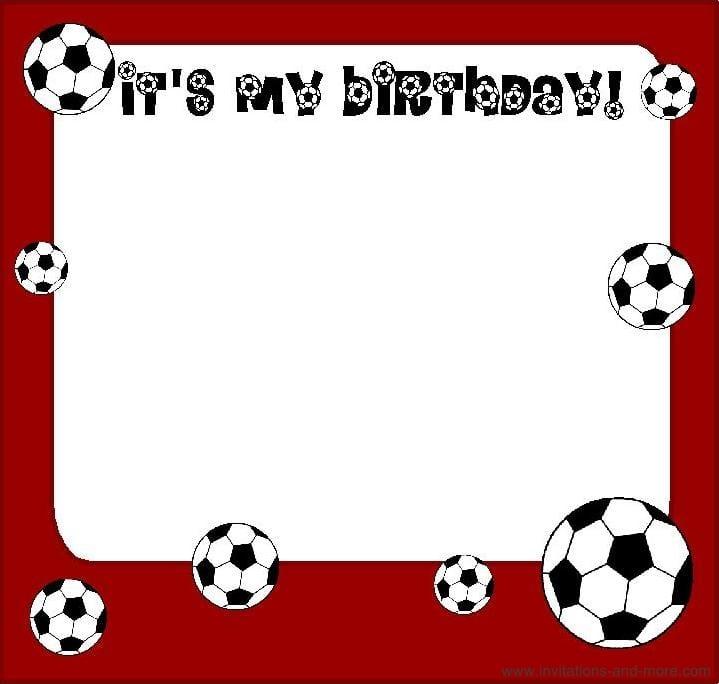 Free Soccer Birthday Invitation Cards
