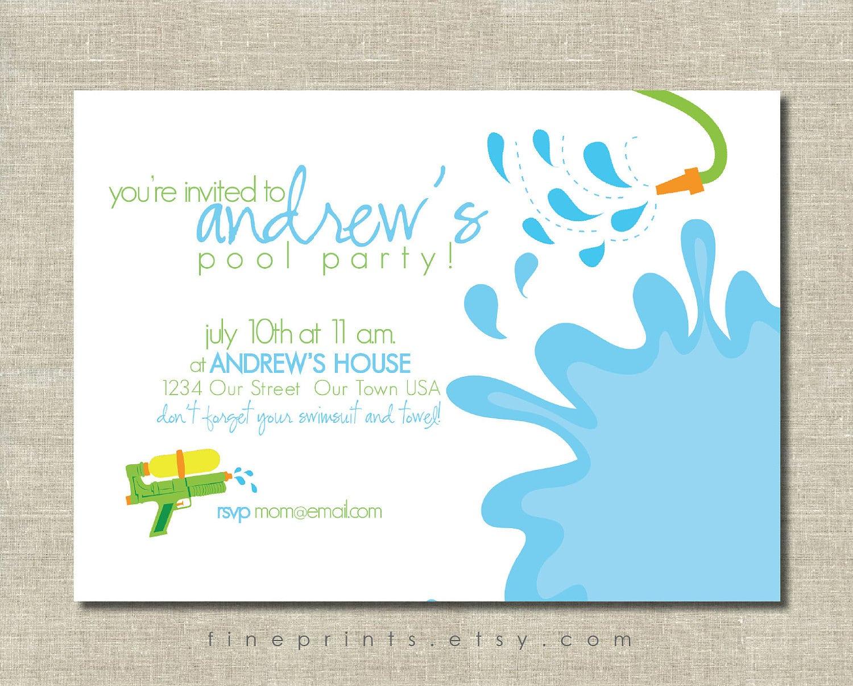 Free Swim Party Invitation Printable