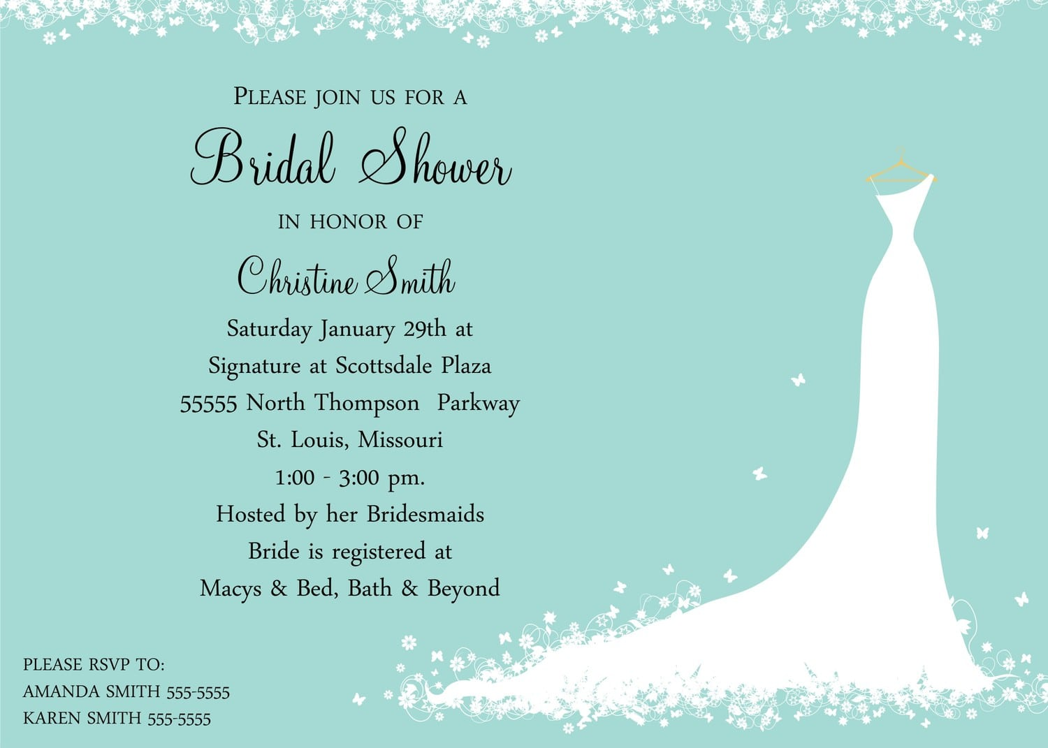 Free Template For Baby Shower Invitation Wording