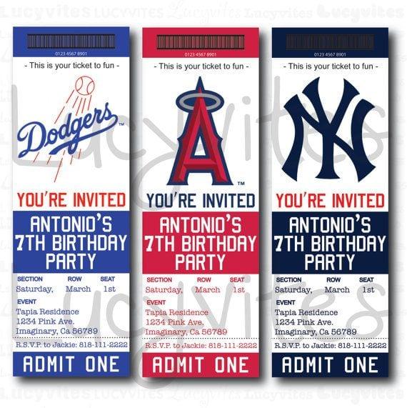 Free Template For Baseball Ticket Invitation