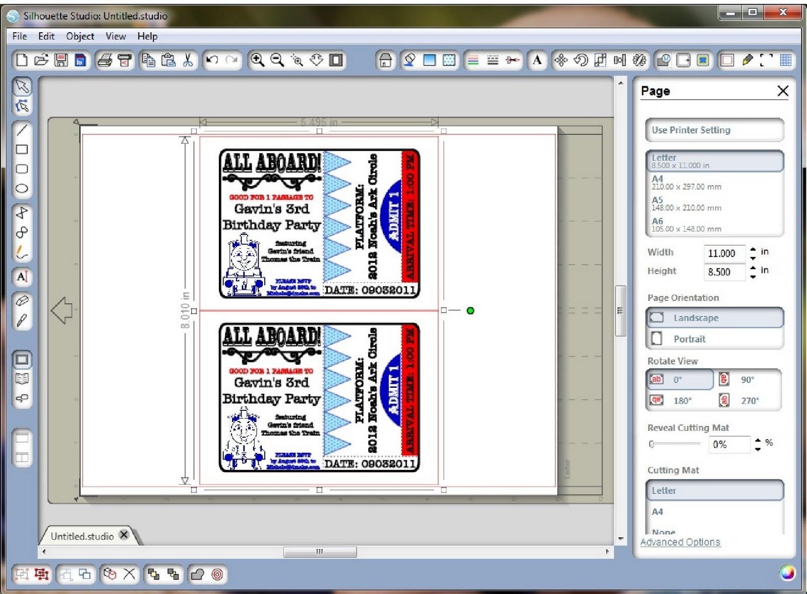 Free Train Ticket Invitation Printable