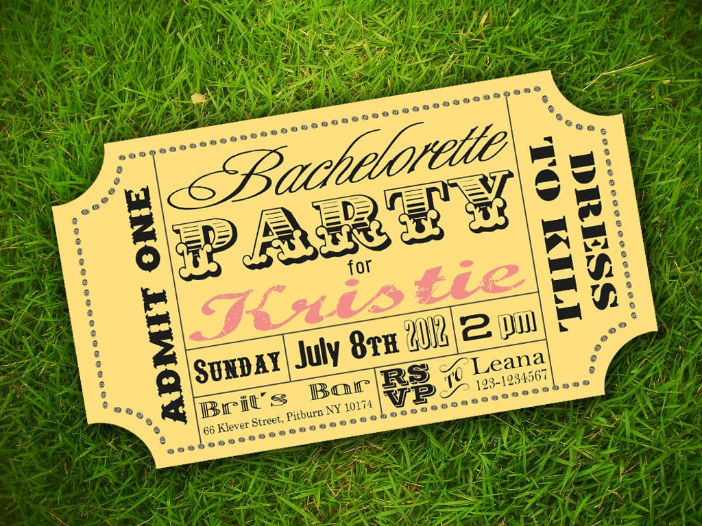 Free ticket invitation template for Ticket invitation template free