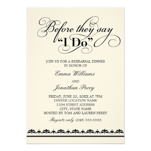 Free Wedding Rehearsal Dinner Invitations