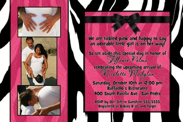 Free Zebra Baby Shower Invitation Templates