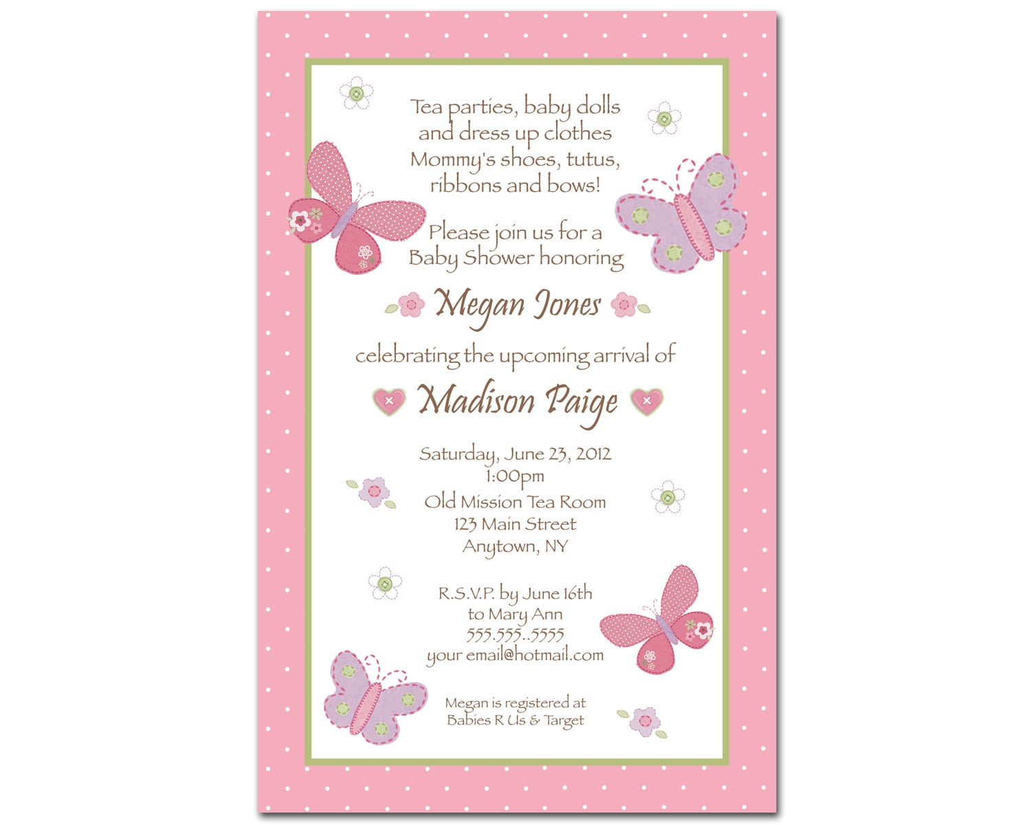 Girl Baby Shower Invitations Free Download