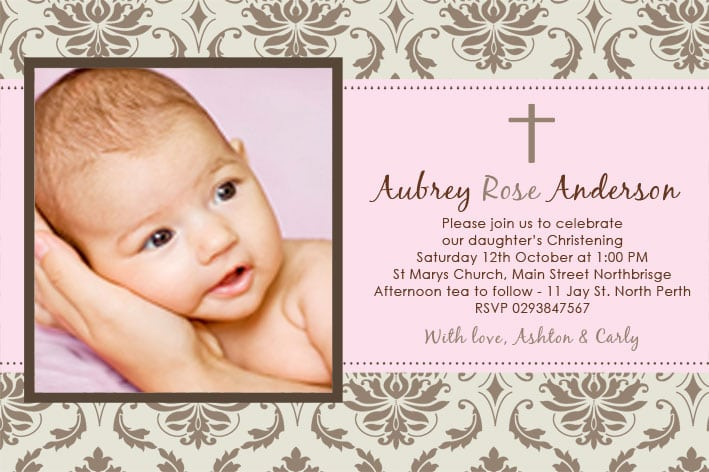 Girl Christening Invitations Australia