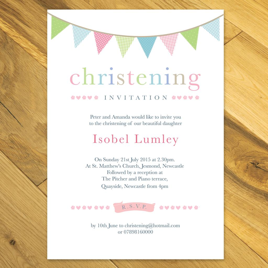 Girl Christening Invitations Uk