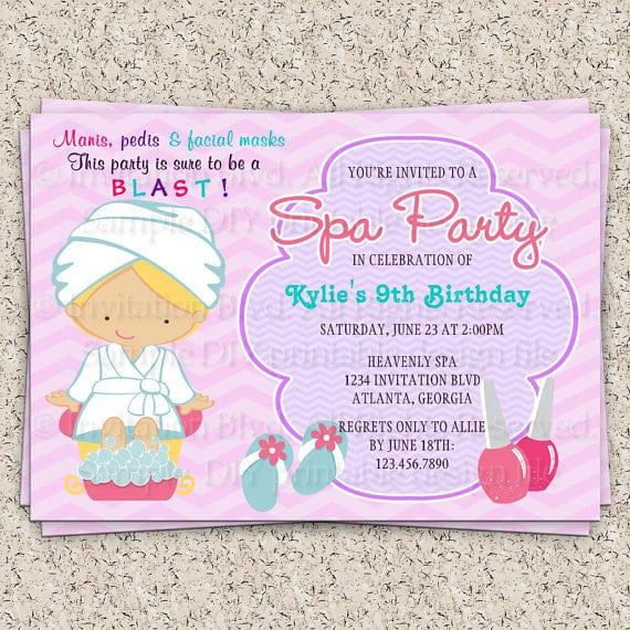 Girls Spa Invitation