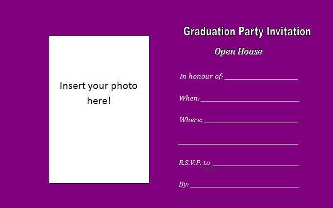 Graduation Invitation Insert Template