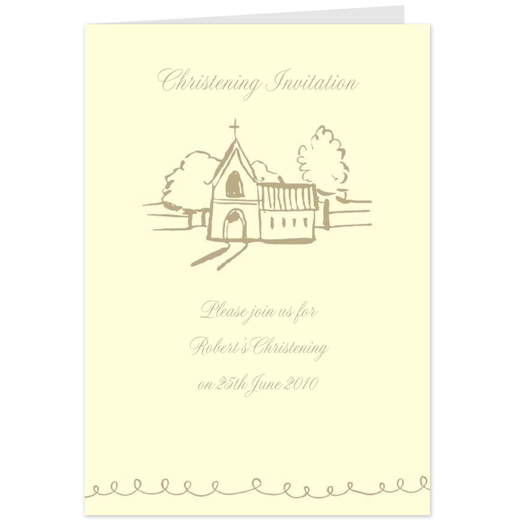 Hallmark Christening Invitation Cards