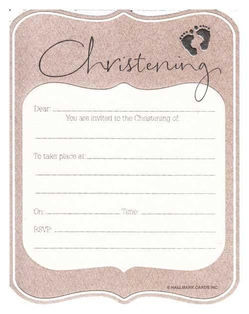 Hallmark Christening Invitations