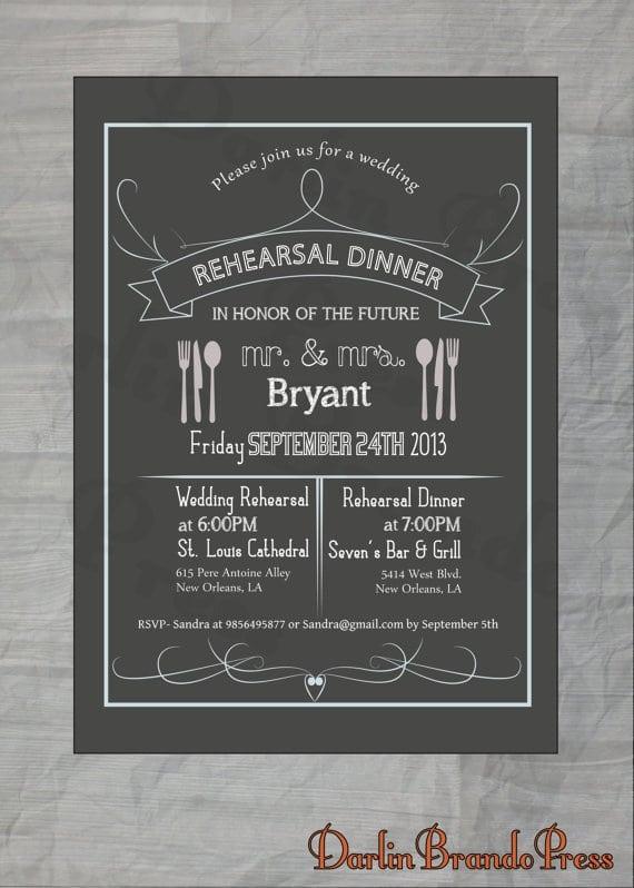 Hallmark Rehearsal Dinner Invitation